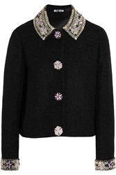 Holly Fulton Embellished Wool Blend Boucle Jacket