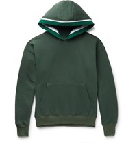 Noon Goons Outfield Fleece Back Cotton Jersey Hoodie Green