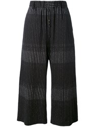 Damir Doma Cropped Embroidered Trousers Men Cotton S Black