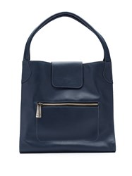 Mara Mac Leather Tote Bag Blue