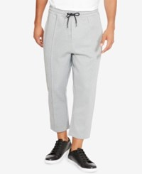 Kenneth Cole New York Men's Cropped Knit Jogger Pants Flannel Heather