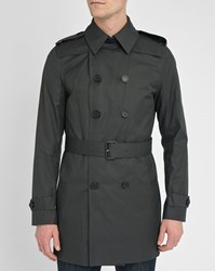 Sandro Grey Magnetic Long Trench Coat