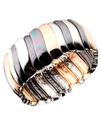 Nine West Bracelet Tri Tone Stretch Bracelet