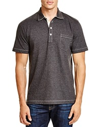 Billy Reid Pensacola Regular Fit Polo Charcoal Heather