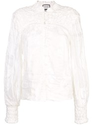 Alexis Bismarck Embroidered Blouse White
