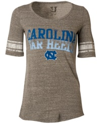 Myu Apparel Women's Short Sleeve North Carolina Tar Heels Sequin T Shirt Gray