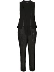 Alexandre Plokhov Pleated Front Jumpsuit Black