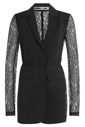 Mcq By Alexander Mcqueen Blazer With Lace Sleeves Black