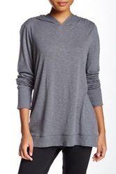 Central Park West The Kollhaas Slub Knit Hoodie Gray