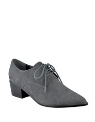 Marc Fisher Etta Leather Oxfords Grey