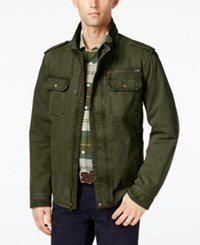 G.H. Bass And Co. Snap Pocket Military Jacket Olive