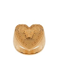 Versace Heart Shape Medusa Motif Ring Gold
