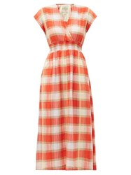 Ace And Jig Faye Picnic Checked Cotton Dress Red