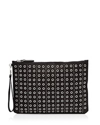 Etienne Aigner Medium Eva Grommet Clutch Black