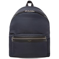 Saint Laurent Nylon Backpack Blue