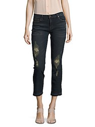 Dkny Whiskered Cropped Pants Dark Navy
