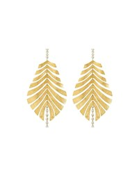 Hueb Bahia 18K Gold Diamond Leaf Drop Earrings