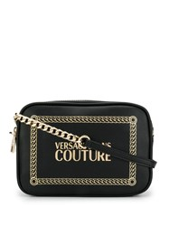 Versace Jeans Couture Logo Crossbody Bag Black