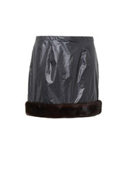 Christopher Kane Fur Trim Mini Skirt
