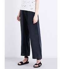 Drifter Giza Silk Georgette Trousers Washed Black