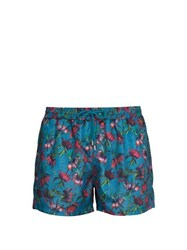 Paul Smith Floral Print Swim Shorts Blue