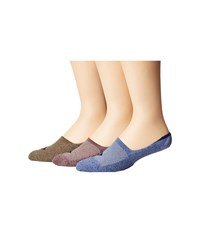 Sperry Performance Cushion Liners 3 Pack Blue Marl Assorted No Show Socks Shoes Multi