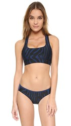 Adidas By Stella Mccartney Performance Bikini Top Dark Blue Black