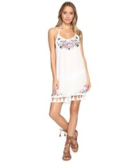 Bindya Embroidered Floral Cover Up Dress White Women's Dress