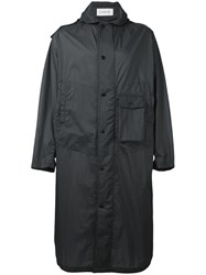 Christophe Lemaire Long Parka Men Nylon Polyester Xs Black