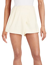 Marc By Marc Jacobs Asymmetrical Pleat Front Shorts Sun Bleach
