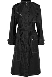 Belstaff Coated Cotton Shell Trench Coat Black