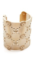 Oscar De La Renta Lace Cuff Bracelet Light Gold