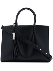 Tod's Tassel Detail Tote Women Calf Leather One Size Black