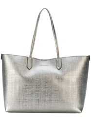 Alexander Mcqueen Large Shopper Tote Women Leather One Size Metallic