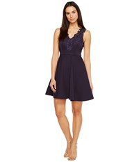 Ted Baker Taliia Halterneck Low V Neck Dress Navy Women's Dress