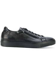 Fabi Zip Detail Sneakers Calf Leather Leather Rubber Black