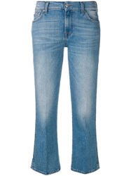 7 For All Mankind Cropped Flared Jeans Blue