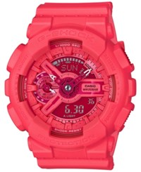 G Shock Women's Analog Digital S Series Coral Resin Strap Watch 46X49mm Gmas110vc 4A Red