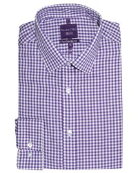Slim Fit Double Two Formal Shirt Purple