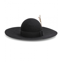 Saint Laurent Felted Wool Hat Noir