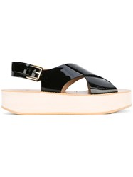 Flamingo's Flatform Sandals Black