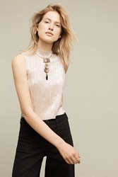 Anthropologie Cava Knit Shell Neutral