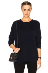 James Perse Oversized Sweater In Blue