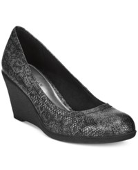 American Living Mikala Platform Wedge Pumps A Macy's Exclusive Style Python Black