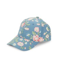 Bcbgeneration Floral Canvas Baseball Cap Vintage Blue