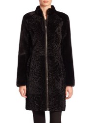 The Fur Salon Mink And Lamb Coat Black