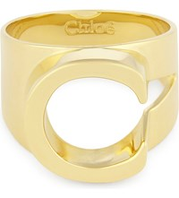 Chloe Alphabet C Ring Gold