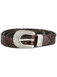 Eleventy Interlaced Design Belt Brown