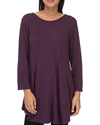 B Collection By Bobeau Brushed Tunic Top Berry