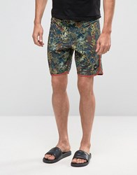 Rvca Fields Shorts Grey Brown